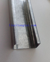 38*20 mm Galvanized steel main channel/furring channel for Ceiling Suspension System