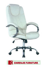 Chrome base with PU leather office chair
