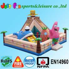 Cheap inflatable fun city for sale,spongebob inflatable fun city for kids