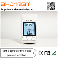 ShanRen Raptor best selling professional 2.4G digital Anti-interference bike odometer with headlight