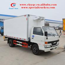 JMC 4X2 3 ton mini refrigerator food van truck for sale