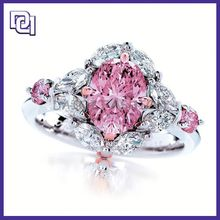 trendy pink and white rhinestone cool ring for women