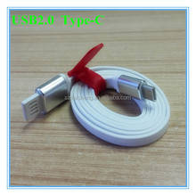 oem new white gold silver ends flat 100cm 1m 3ft two sides usb2.0 Type C usb cable for mobile phone