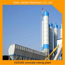 cumulative measure hzs240 concrete batching plant in Canada with 25m3 bins