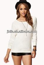 Chic contraste listrado feminino t- camisa de impressão personalizada