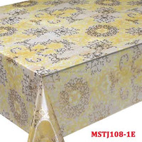waterproof polyester plastic pvc table cloth