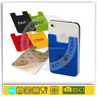 Silicone Cell Phone wallet Smart Phone Wallet Mobile Pockets with 3M Sticker