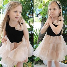 Fashion Sleeveless Bowknot Casual flower girl dress of 9 years old SV014624