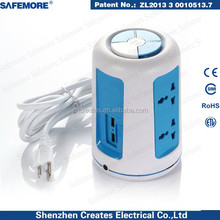 3-phase plug and socket vertical multi socket 2usb thailand electric plug