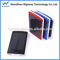 Waterproof 10000mAh solar charger mobile phone,Dual USB port for outdoor use