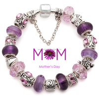 Corporate gift, European charm bead bracelet mothers day corporate gift