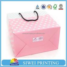2015 custom printed luxury round Colorful display buy paper bag