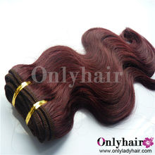 Body Wave Brazilian Virgin Remy Hair 99j Weave Red Color