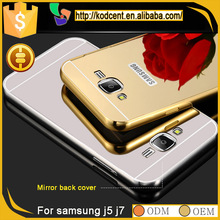 New product mirror aluminum metal frame bumper cover case for samsung galaxy j5