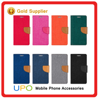 New Material mobile phone pu leather flip case cover for Samsung galaxy s6