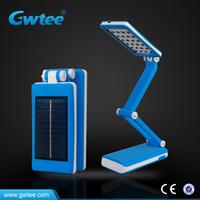 Folding solar rechargeable led desk lamp, mfga desk lamp,led table lamp
