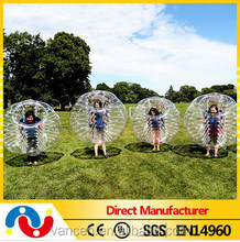HI Big discount! 0.8mm/1.0mm PVC/TPU soccer bubble inflatable human balloon