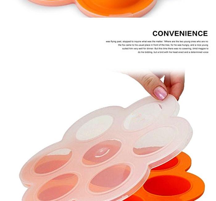 Многофункциональный круглой формы 7 полости Ice эскимо плесени и кормление Силиконовые пластины