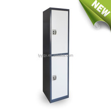 2 door locker industrial metal furniture storage locker cabinet