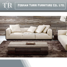Italian wooden leather sofa hot model for 2015