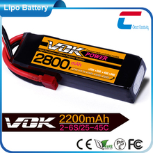 18.5V 2800mAh 5cell 25C rc car and airplane model batteries with more than 500 times cycle life