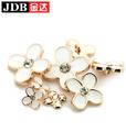 Venta al por mayor de la flor del Rhinestone botón de la boda Bouquet decoración