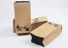 Side Gusset Kraft Paper Bag With Window, Window Kraft Paper Bag For Tea Manufactuers