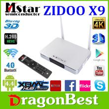 internet tv box android ZIDOO X9 MSTAR MSO9180D1R quad core tv box 2gb ram 8gb rom 2.0GHz XBMC 13.2-kodi 15.0