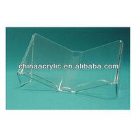 Acrylic tabletop Open Book display stand,acrylic Elevated Book Display,acrylic Flat Open Book Display