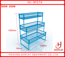 Blue color powder coated metal wire basketball rack