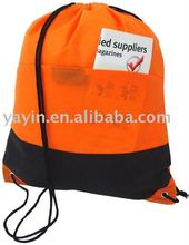 190T/210D nylon polyester promotional drawstring backpack