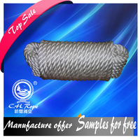 high strength 3 strand 56mm polyester rope course mooring tug string