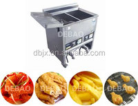 double fryer areas water-oil electrical heating CE Certificate