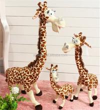 Bespoke kids soft bed playing plush toy safari animal giraffe shaped stuffed toys