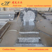 China spray white monuments tombstone granite tomb design