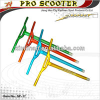Colorful welding high quality kick scooter bar, alu scooter T bar