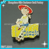 Fashion girl Jessie decorative Hard Enamel pin Badge GFT-KC688