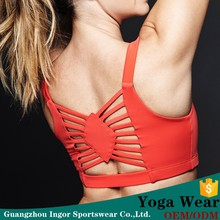 cheap custom body slim red color wear yoga fitness wear for women