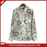 Wholesale long sleeve custom men hawaiian beach shirts