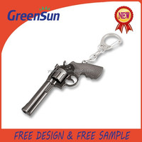 Custom Made Cheap Metal Pistol Keychain