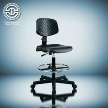 Adjustable footrest PU industrial chair