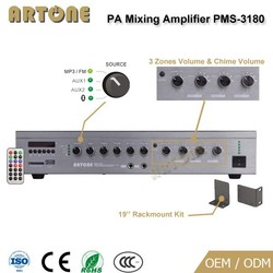 PMS-3180 mp3-amplifier automatic mixer and amplifier