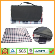 "50""x60"" Portable Moisture-proof Folding Woven Acylic Camping Picnic Blanket"