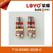 High Quality Auto Lamp 9SMD 5050 Canbus T10 LED Car Light