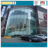 Frameless Glass Curtain Wall, Glazing Curtain Wall Glass Wall for Building 4102