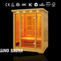infrared health saunas cabin with carbon heater and ceramic heater together