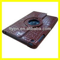 New Product Cover Cases For iPad Accessories 360 Rotating Leather Case Magnetic Smart Cover Alligator Pattern