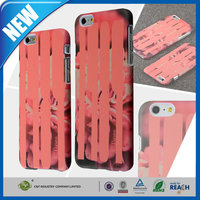 C&T New arrival design flora coating rubberized plastic case for iphone 6 plus