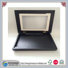 Antique feasure matt black finish wooden shadow box