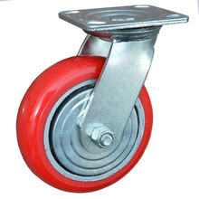 "5"" heavy duty castor wheels,polyurethane fixed high demand caster,8 wheel"